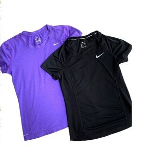 Bundle Nike Dri Fit Tees Purple Black Dot Mesh